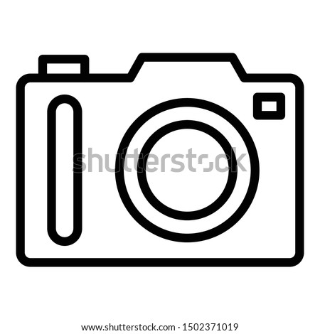Camera, digital camera isolated Vector Icon which can easily modify or edit