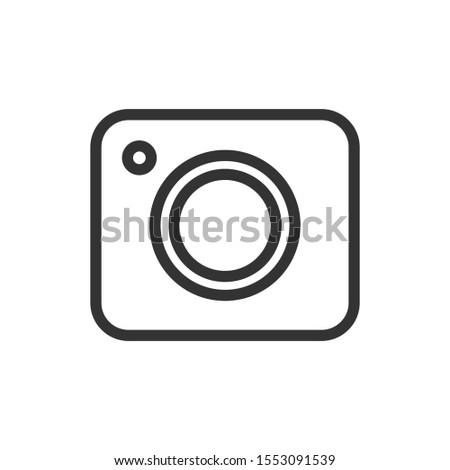 Camera icon, EPS vector image.