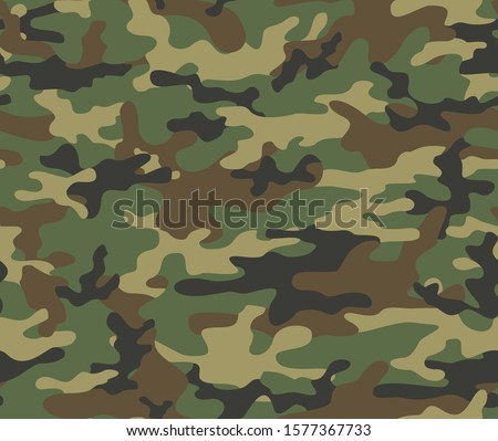 Camouflage modern pattern seamless element for printing clothes, fabrics. Vector. Hunting and fishing.