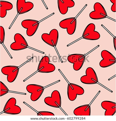 candy hearts pattern vector