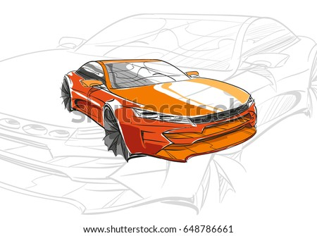 car conceptcar sketchvector