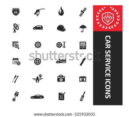 car service icons clean vector