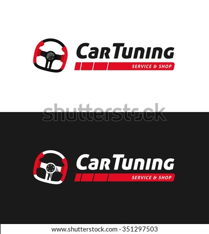 car tuning shop logo template