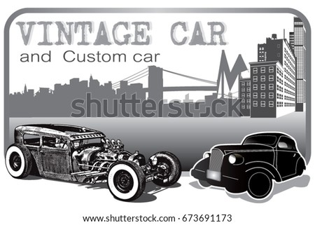 car vintage and car custom