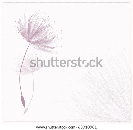card design with stylized flower