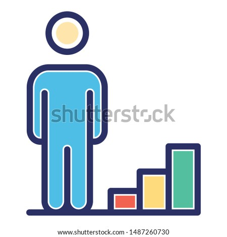 Career advancement, career ladder Vector Icon