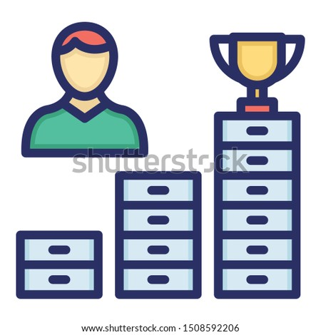 Career advancement, career opportunities Isolate Vector icon which can easily modify color style or also edit the shape