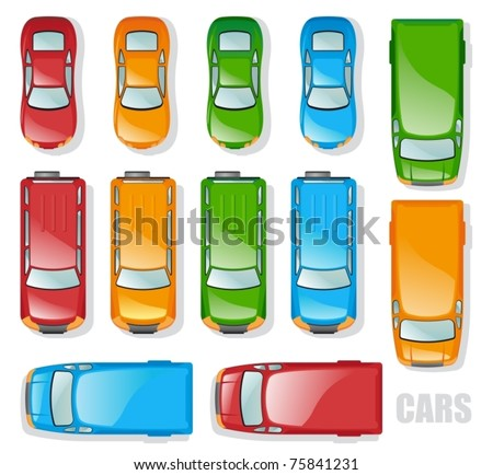 Car Top View Vector