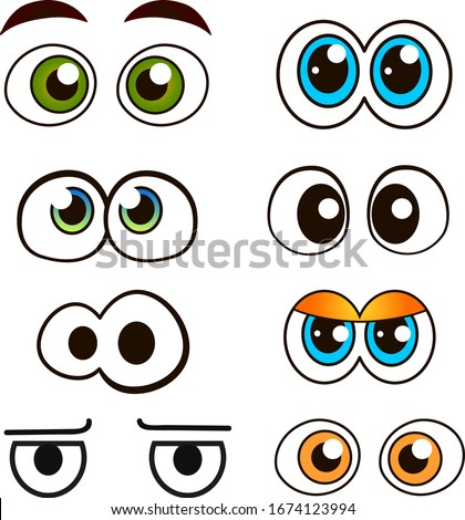 Cartoon beautiful eyes vector set. Photo stock ©