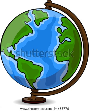 Cartoon Desk Globe