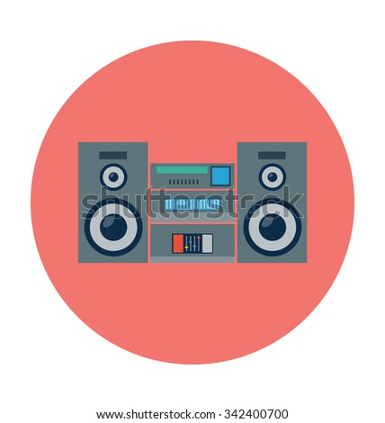 cassette player colored vector