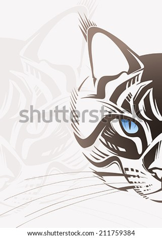 Cat face. Vector illustration