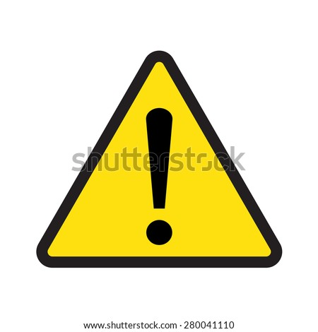 caution sign vector triangle