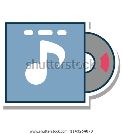 Cd Envelope Glyph color vector icon editable