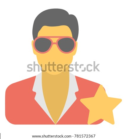 Celebrity Vector Icon
