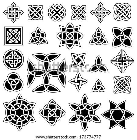 24 celtic knots  triquetra