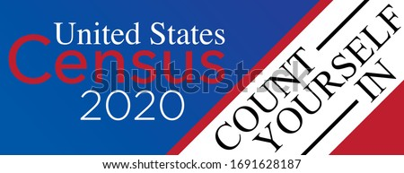 2020 Census Count Yourself In Stockfoto ©