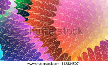 center splash wave of thorn vector abstract background