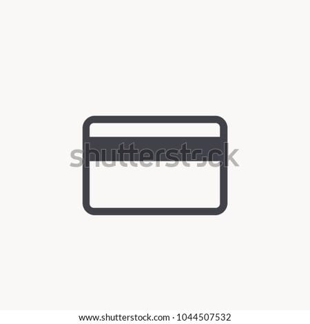 cerdit card icon vector EPS10