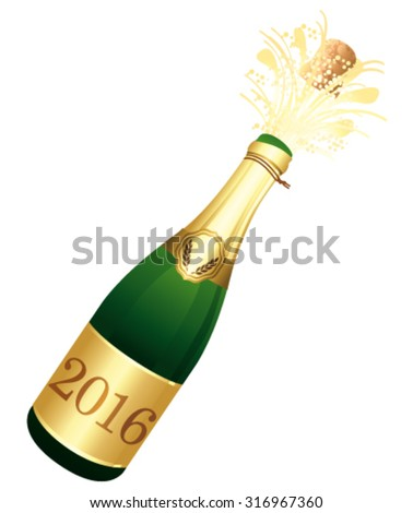 2016 champagne bottle