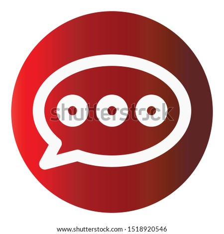 Chat balloon, chat bubble  Isolated Vector Icon which can easily modify or edit