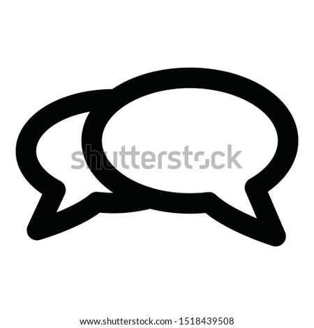 Chat, chat bubble  Isolated Vector Icon which can easily modify or edit