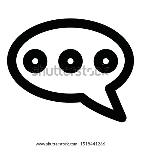 Chat, chat ellipses  Isolated Vector Icon which can easily modify or edit