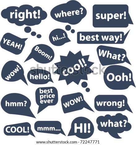 20 chat & thought signs. vector - stock vector