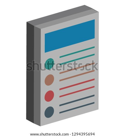 Checklist report, checklist Color Icon isolated and Vector that can be easily modified or edit