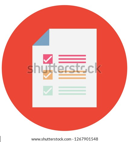 Checklist Report Color isolated Vector Icon that can be easily modified or edit