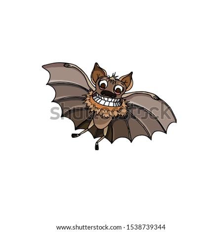 Cheerful bat. Cartoon bat. Halloween. Stock vector illustration. Stock photo ©