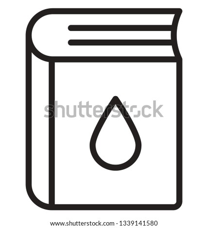Chemistry book Isolated Vector icon that can easily modify or edit