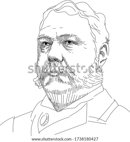 Chester Alan Arthur - 21 US President Stok fotoğraf ©