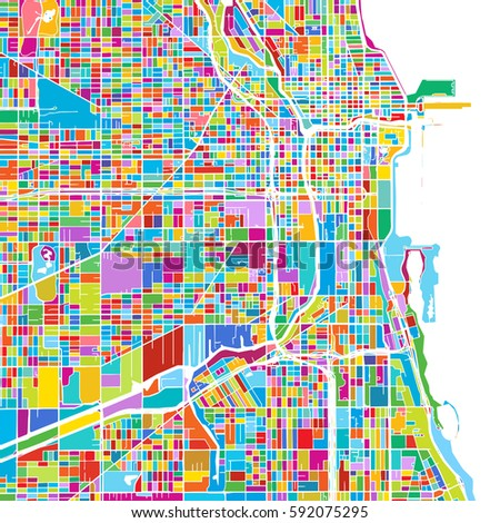 chicago  usa  colorful vector