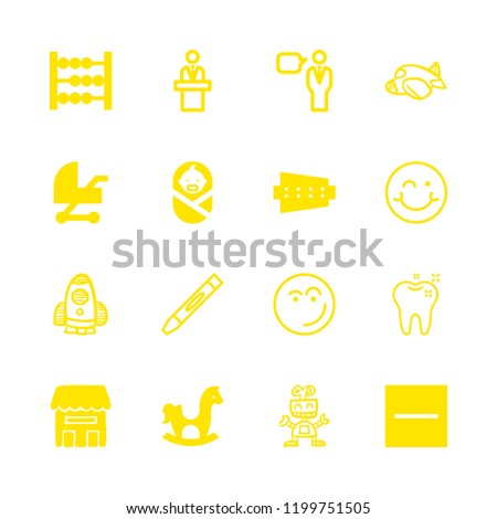 16 child icons with substract and home in this set