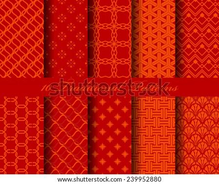 10 chinese seamless patterns