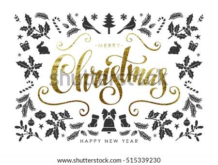 christmas postcard with
