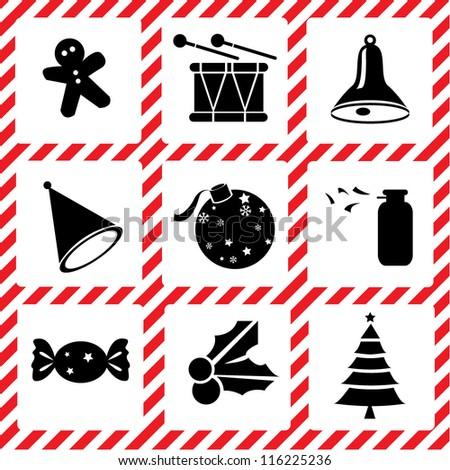 Christmas set, icon set