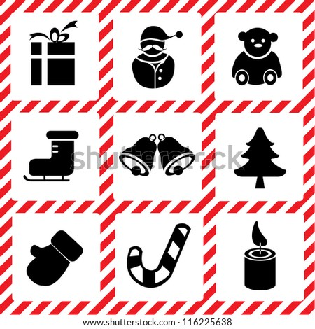 Christmas set, icon set
