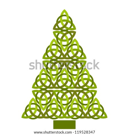 christmas  tree celtic design