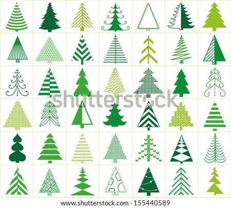 42 christmas trees