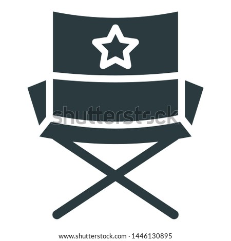 Cinema chair, director chair Isolated Vector Icon which can easily modify or edit