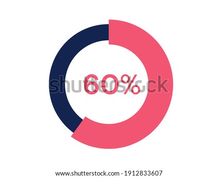 60% circle diagrams Infographics vector, 60 Percentage ready to use for web design Zdjęcia stock ©