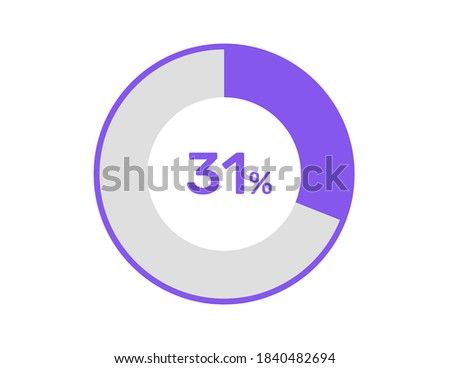 31% circle percentage diagrams, 31 Percentage ready to use for web design, infographic or business  Zdjęcia stock ©