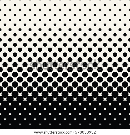 circles halftone seamless geometric gradient black and white  pattern