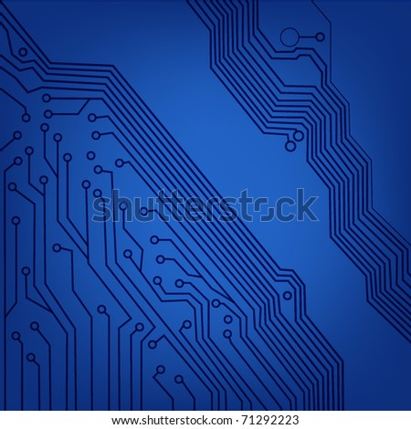 circuit board macro background. vector illustration. EPS10