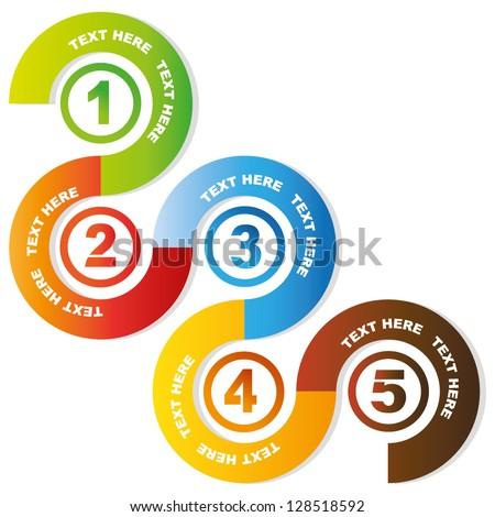5 circular sequences diagram, business process flow presentation