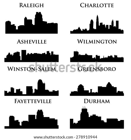 8 city in North Carolina ( Charlotte, Raleigh, Asheville, Wilmington, Greensboro, Winston-Salem, Durham, Fayetteville )