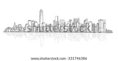 city panoramic skyline view