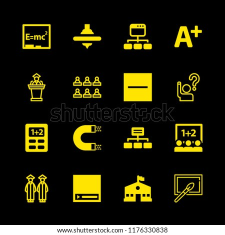 16 class icons with substract and magnet in this set